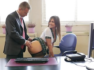 NAUGHTY SCHOOL GIRL TAKES AN EXAM WITH HARDCORE ANAL FUCK